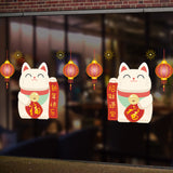 Lovely Happy New Year And Happy Chinese Spring Festival Fashion Designed Removed Vinyl Wall Sticker Colorful Wall Sticker House Decoration Wall Decoration 8 - Raylinedo