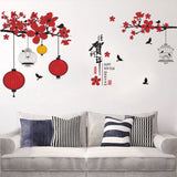 Lovely Happy New Year And Happy Chinese Spring Festival Fashion Designed Removed Vinyl Wall Sticker Colorful Wall Sticker House Decoration Wall Decoration 9 - Raylinedo