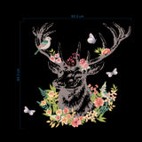 Elk And Flowers Removable Wall Stickers Window Sticker Art Decals Mural DIY Wallpaper for Room Decal - Raylinedo