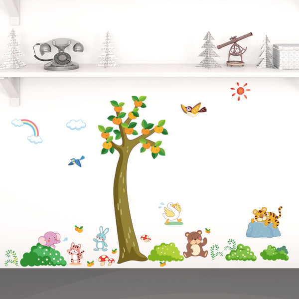 Fruit Tree Removable Wall Stickers Window Sticker Art Decals Mural DIY Wallpaper for Room Decal - Raylinedo