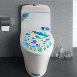 Mermaid Fashion Designed Removed Vinyl Wall Sticker Toilet Sticker House Decoration Wall Decoration - Raylinedo