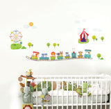 Animals And Playground Removable Wall Stickers Window Sticker Art Decals Mural DIY Wallpaper for Room Decal - Raylinedo