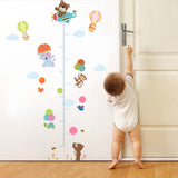 Animal Height Sticker Removable Wall Stickers Window Sticker Art Decals Mural DIY Wallpaper for Room Decal - Raylinedo