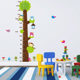 Cute Colorful Pvc Removable Cartoon Height Tree Of Wall Stickers And Wall Decals For Home Decoration Adesivo De Parede -ZYPA-CD003-NA - Raylinedo