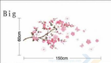 Cherry Blossoms Removable Wall Stickers Window Sticker Art Decals Mural DIY Wallpaper for Room Decal 60*150CM - Raylinedo
