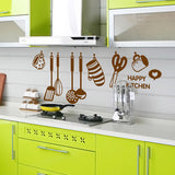 Cute Kitchen Tools Pattern Wall Stickers DIY Removable Art Vinyl Quote Wall Sticker Decal Mural Home Room Decor -ZYPB-6017-NN - Raylinedo
