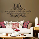 Life Quote Wall Stickers Removable Art Vinyl Wall Sticker Decal Mural Home Room D¨¦cor -ZYVA-8048-NN - Raylinedo