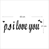 I Love You Pattern DIY Wall Stickers Quotes Wall Stickers Removable Art Vinyl Quote Wall Sticker Decal Mural Home Room Wall Decoration -ZYVA-8180-NA - Raylinedo
