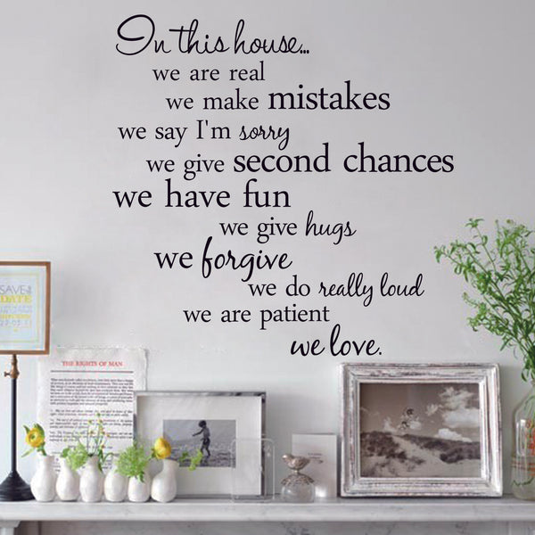 Black Color Quote Wall Stickers Removable Art Vinyl Wall Sticker Decal Mural Home Room Decor -ZYVA-8204-NN - Raylinedo