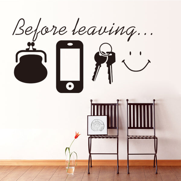 Before Leaving Removable Wall Stickers Window Sticker Art Decals Mural DIY Wallpaper for Room Decal 2 pcs - Raylinedo
