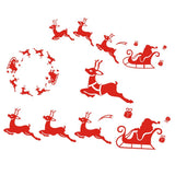 Merry Christmas Red Color Wall Sticker Wall Decoration Wall Art Designed  Xmas05 - Raylinedo