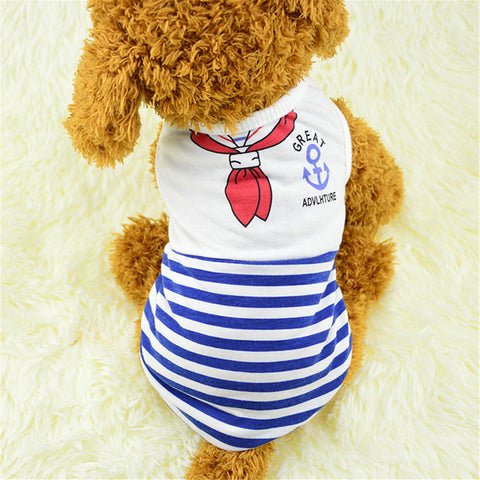 Fashion Cute Dog Cat Clothes Pet Vest Puppy Printed T Shirt - Raylinedo