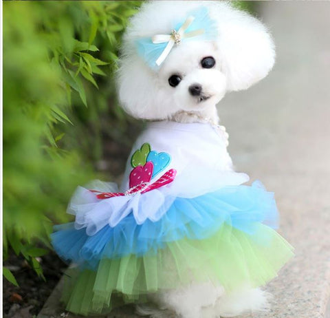Cute Pet Puppy Tulle Skirt Princess Dress Cat Dog Clothes Apparel - Raylinedo