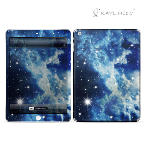 Blue Galaxy Decal 3M Full Body Sticker Skin Protector for iPad - Raylinedo