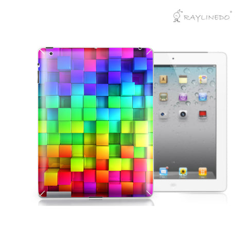 3D Rainbow Decal 3M Back Sticker Skin Protector for iPad - Raylinedo