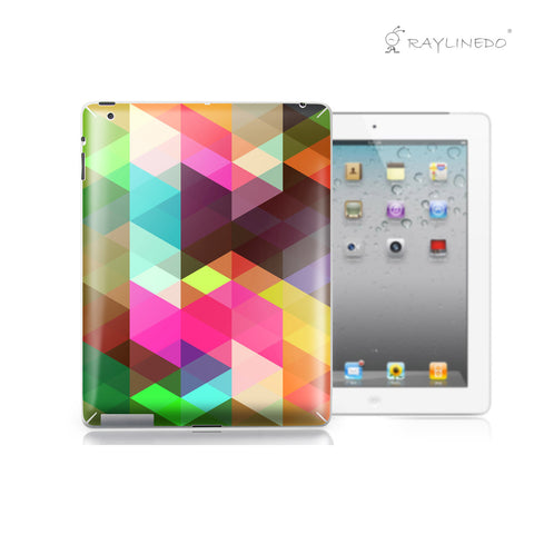 Colorful Diamond Decal 3M Back Sticker Skin Protector for iPad - Raylinedo