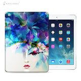 Beautiful Flower Girl Decal 3M Back Sticker Skin Protector for iPad - Raylinedo