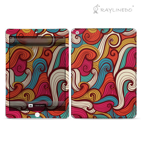 Colorful Sea Spray Decal 3M Full Body Sticker Skin Protector For Ipad - Raylinedo