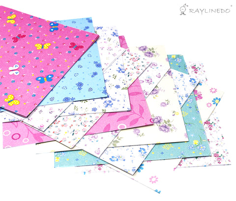 144 Sheets Craft Folding Origami Paper Washi Folding Paper 15CM*15CM with Different Colors and Patterns C - Raylinedo