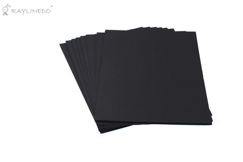 A4 230 GSM Smooth Thick Black Card Office Card Ideal for Cardmaking & Scrapbooking - (Pack of 50 Sheets) - Raylinedo
