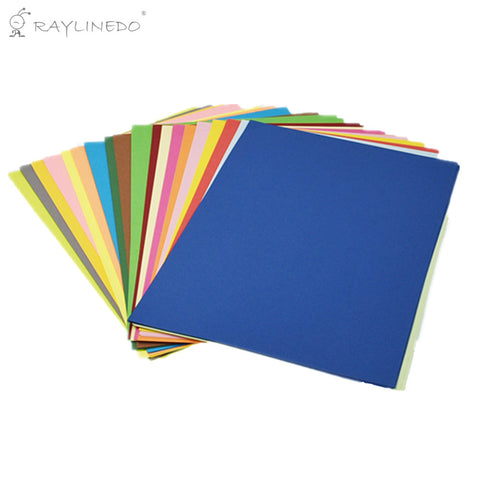 Handmade DIY Paper Colorful A4 Copy Paper 80GSM Origami Card Paper Child Cutting Paper Material 100 Sheets Ideal for Cardmaking & Scrapbooking - Raylinedo
