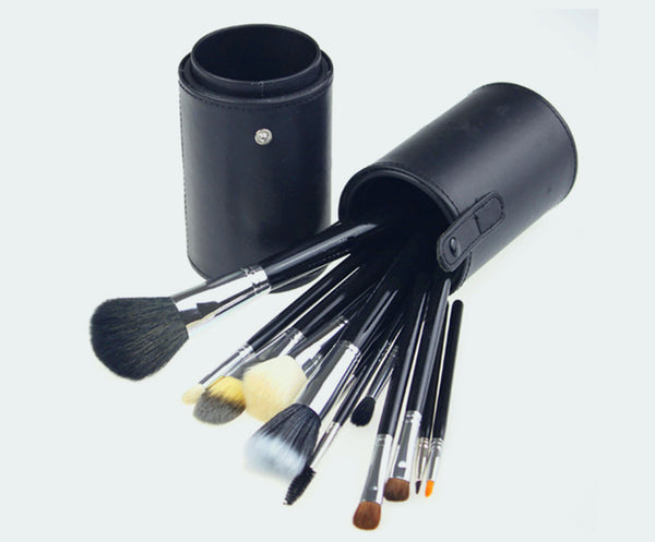 13PCS High Quality Stylish Professional Synthetic Makeup Tools Cosmetic Brushes Kit Set With PU Canister - Raylinedo