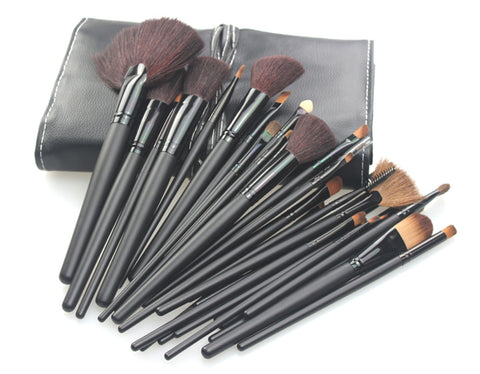 32PCS High Quality Stylish Professional Sabel Makeup Tools Cosmetic Brushes Kit Set Wood Handle With Cosmetic Bag - Raylinedo