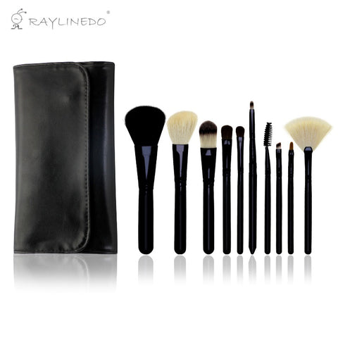 10PCS Professional Soft Makeup Brush Set Foundation Eyeliner Liquid Cream Powder Eyebrow Make up Brushes Cosmetic Tool - Raylinedo