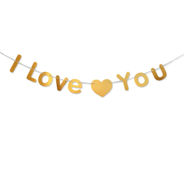 Paper Garland For Wedding Birthday Anniversary Party Christmas Girls Room Decoration I Love You - Raylinedo