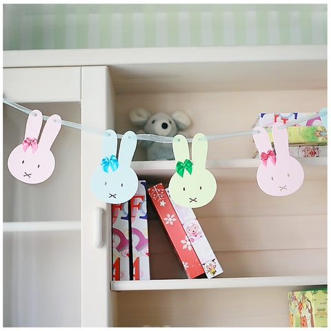 ink Green Blue Garland For Wedding Birthday Anniversary Party Christmas Girls Room Decoration Rabbit Shape - Raylinedo