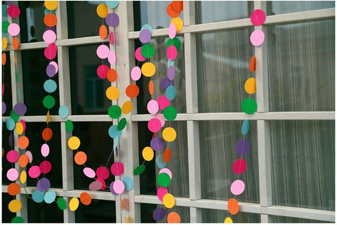 Paper Garland For Weddings or Party - Raylinedo