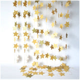 Paper Garland For Wedding Birthday Anniversary Party Christmas Girls Room Decoration Stars Shape - Raylinedo