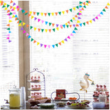 Paper Garland For Wedding Birthday Anniversary Party Christmas Girls Room Decoration Triangle - Raylinedo
