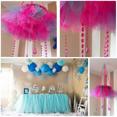 Tulle Roll Spool Tutu Party Birthday Wrapping Crafts Bridal Bow Skirt Wedding Decor - Raylinedo