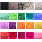 Pack 20 x 25g Ball Assorted Colors 100% Acrylic Knitting Yarn Crochet Crafts Total of 900m Colourful Yarn with 3 Crochets - Raylinedo