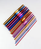 14pcs Multicolour Aluminum Crochet Hook Knitting Needles Set In Defferent Sizes (2.0mm-10.0mm) - Raylinedo
