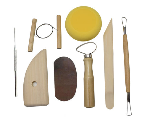 8Pcs Multifunction Wood and Steel Pottery Tool Set Ceramic Modeling Kit - Raylinedo