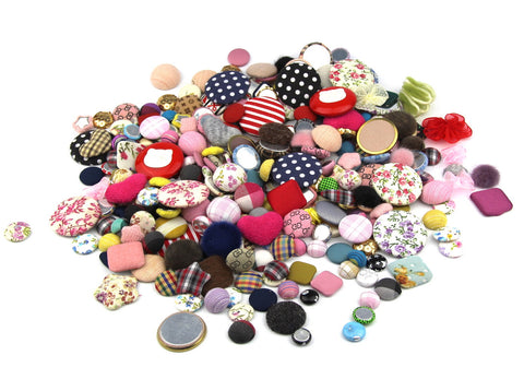 100g Fabric Craft Mixed Colors of Various Shaped Buttons for DIY, Sewing and Crafting - Raylinedo