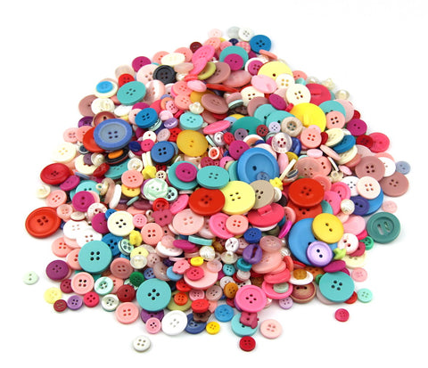 100g Plastic Mixed Colors of Various Shaped Buttons for DIY, Sewing and Crafting - Raylinedo