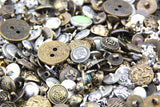 100g Bronze Copper Mixed Colors of Various Shaped Buttons for DIY, Sewing and Crafting - Raylinedo