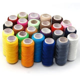 24 Colour Spools Finest Quality Sewing All Purpose 100% Pure Cotton Thread Reel - Raylinedo