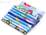 30pcs blue series fabric cotton 100% printed boundle patchwork squares of 10*10cm - Raylinedo