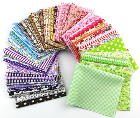 15pcs 20*25cm Fabric Patchwork Craft Cotton Material Mixed Squares Bundle THIN Fabric - Raylinedo