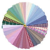 50PCS 20*30cm Assorted Pre-Cut Check Series Mixed Squares Bundle Quilt Fabric Patchwork For Handmade Scrapbooking Artcraft Project - Raylinedo