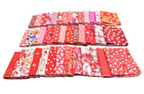 40PCS 20*30cm Assorted Pre-Cut Printing Cotton Material Mixed Squares Bundle Quilt Fabric Patchwork For DIY Handmade Craft, Red Color Series - Raylinedo