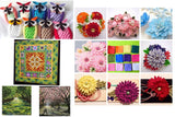 50PCS 20*30cm Assorted Pre-Cut Solid Color Mixed Squares Bundle Quilt Fabric Patchwork For DIY Handmade Scrapbooking Artcraft Project - Raylinedo