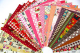 10 pcs Fabric Linen-Cotton Printed Boundle Patchwork Squares Of 20*25cm - Raylinedo