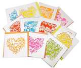 12pcs Assorted Design and color Blank Greetings Cards with Envelopes Cutout Gift Card Folding Cards - Raylinedo