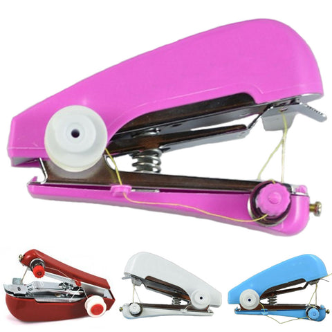 HOT SALE Useful Household Mini Portable Needlework Hand held Sewing Machine (Random Color) - Raylinedo