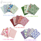 "30 Pcs Different Pattern Multi Color 100% Cotton Poplin Fabric Fat Quarter Bundle 18"" x 22"" Patchwork Quilting Fabric Red Green Pink Blue and Purple Series - Raylinedo"